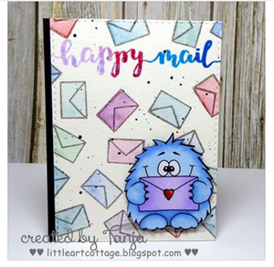 Monster Holding Letter - Digital Stamp - Clearstamps - Clear Stamps - Cardmaking- Ideas- papercrafting- handmade - cards-  Papercrafts - Gerda Steiner Designs