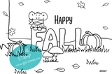 Happy Fall - Greeting Card Printable