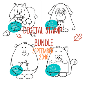Digital Stamp Bundle September 2016 - Clearstamps - Clear Stamps - Cardmaking- Ideas- papercrafting- handmade - cards-  Papercrafts - Gerda Steiner Designs