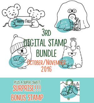 October-November Digital Stamp Bundle - Clearstamps - Clear Stamps - Cardmaking- Ideas- papercrafting- handmade - cards-  Papercrafts - Gerda Steiner Designs