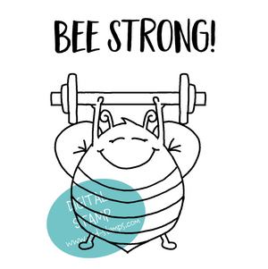 Bee strong! - Digital Stamp - Clearstamps - Clear Stamps - Cardmaking- Ideas- papercrafting- handmade - cards-  Papercrafts - Gerda Steiner Designs