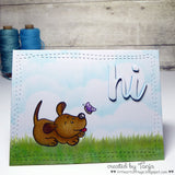 Howl are you? Puppy Clear Stamp Set - Clear Stamps - Papercrafts - Gerda Steiner Designs