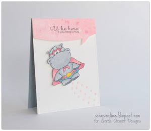 Hippo in Disguise 3x4 Clear Stamp Set - Clearstamps - Clear Stamps - Cardmaking- Ideas- papercrafting- handmade - cards-  Papercrafts - Gerda Steiner Designs