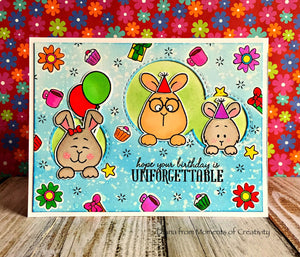 Hoppiness 4x6 Clear Stamp Set - Clearstamps - Clear Stamps - Cardmaking- Ideas- papercrafting- handmade - cards-  Papercrafts - Gerda Steiner Designs