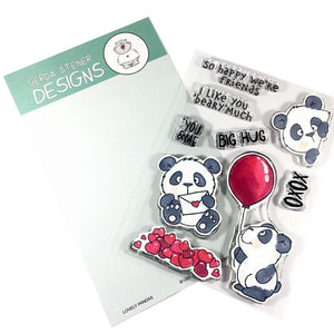 Lovely Pandas 4x6 Clear Stamp Set - Clearstamps - Clear Stamps - Cardmaking- Ideas- papercrafting- handmade - cards-  Papercrafts - Gerda Steiner Designs