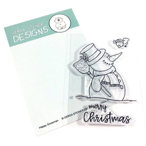Happy Snowman 3x4 Clear Stamp Set