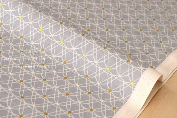 Cotton + Steel Jubilee - crinoline - grey, metallic gold
