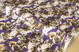 Yuwa Pindot Kittens - purple -fat quarter