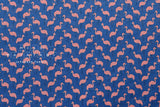 Flamingo voile - blue, pink