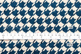 Houndstooth cats - navy blue, cream