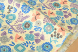 Brushed cotton double gauze floral - A