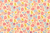 Brushed cotton double gauze floral - B