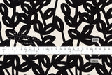 Leafy vine canvas - black, natural