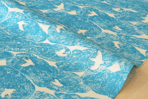 Cloud birds - blue - fat quarter