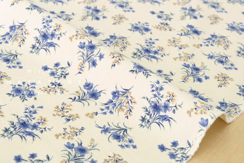 Corduroy Dainty Bouquet - blue, cream