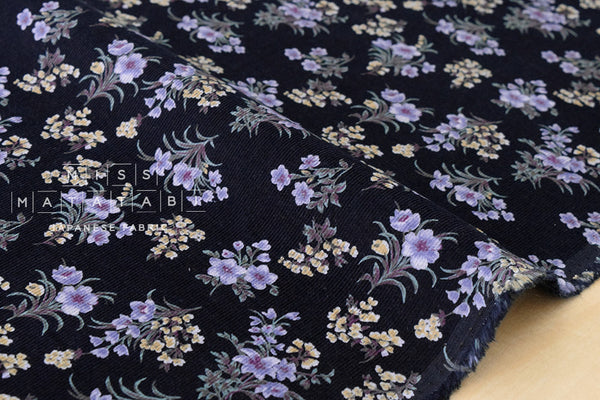Corduroy Dainty Bouquet - dark navy blue
