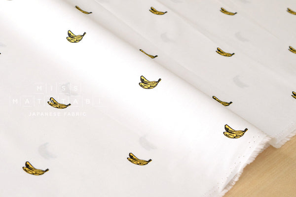 Bananas - white - fat quarter