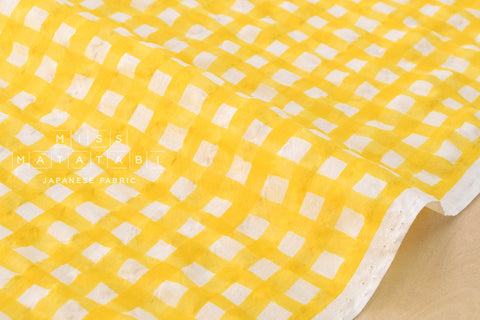Seersucker Gingham lawn - yellow