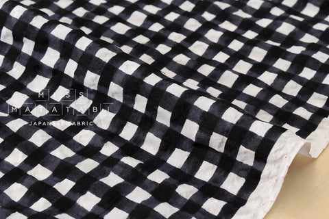 Seersucker Gingham lawn - black