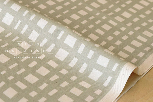 Cotton + Steel Yours Truly - going steady grid - natural - fat quarter