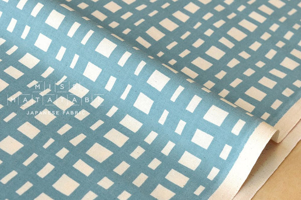 Cotton + Steel Yours Truly - going steady grid - teal