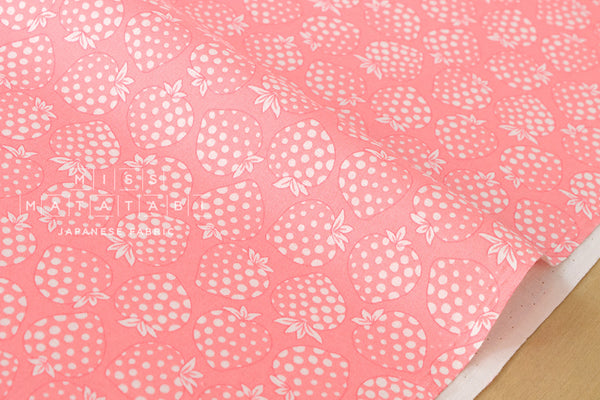 Lecien Old New 30s Collection Strawberries - pink, cream