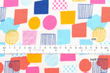 Lecien color basic plus - shapes white - fat quarter