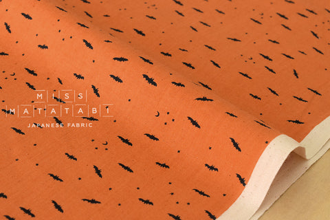Cotton + Steel Lil' Monsters - fresh bats orange