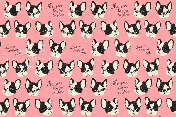 Kokka Boston Terriers - pink