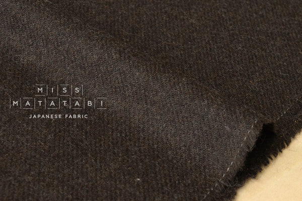 Wool Twill - chocolate brown