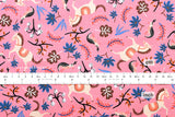 Cotton + Steel Les Fleurs - carousel - pink - fat quarter