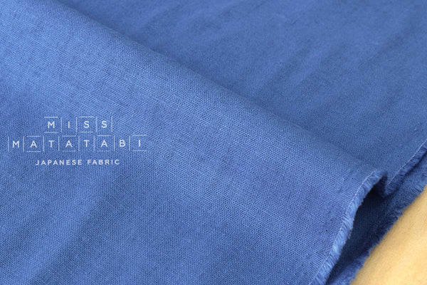 Half Linen Solids - blue