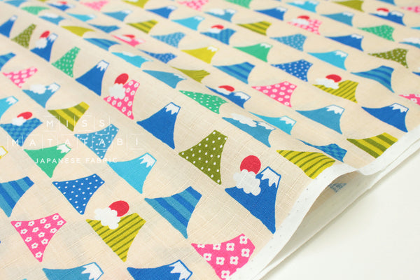Japanese Fabric Mount Fuji dobby - 50cm