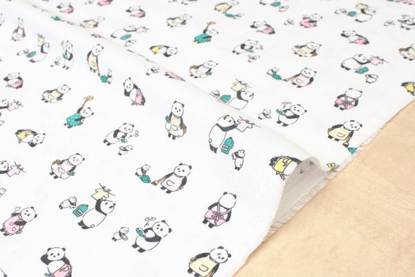 Housework panda double gauze - white
