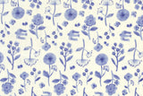 Kokka Trefle Cucito - watercolor garden double gauze - blue, cream