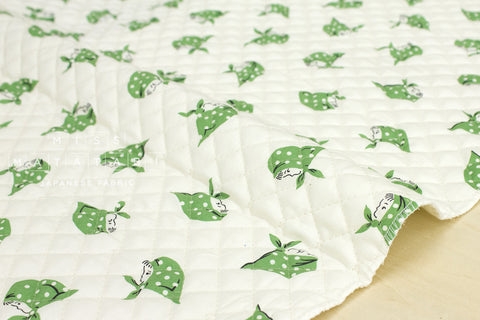 Kerchief Girls pre-quilted - green