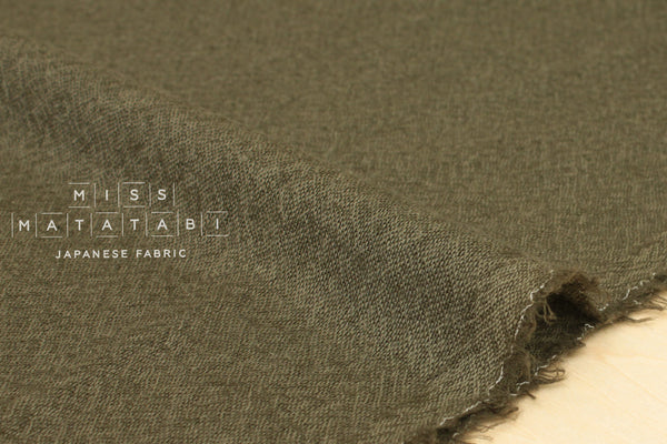 Wool Gauze - khaki green