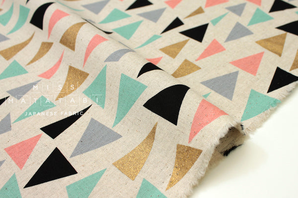 Sankaku - metallic gold A - fat quarter