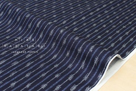 Japanese Fabric Traditional Arrow - indigo blue
