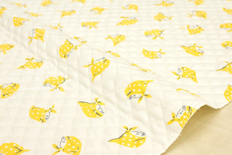 Kerchief Girls pre-quilted - yellow
