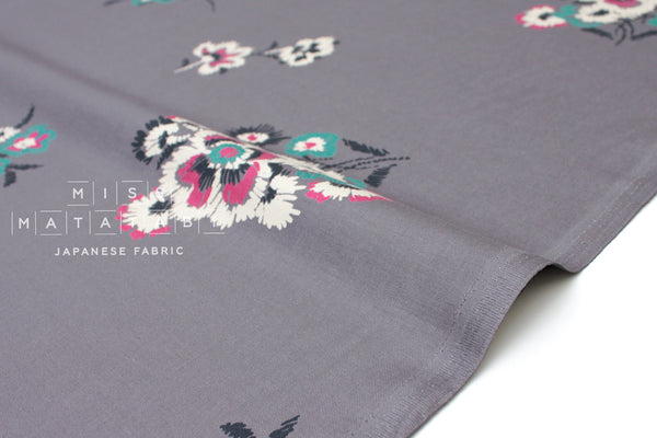 Embroidered Style Floral - grey