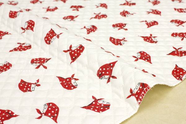 Kerchief Girls pre-quilted - red