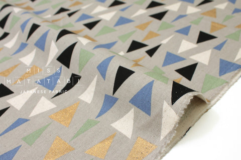 Sankaku - metallic gold C - fat quarter