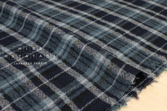 Wool Gauze - plaid - blue