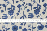 Kokka Trefle Cucito - watercolor garden double gauze - grey, blue