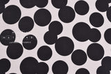 Double gauze big bubbles - black, light grey