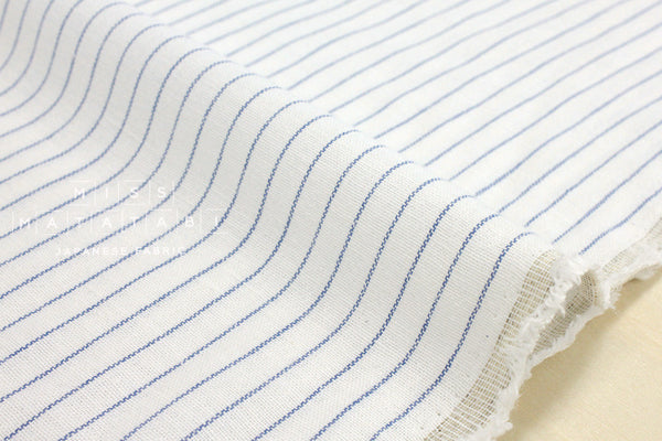 Yarn dyed stripes - blue, white