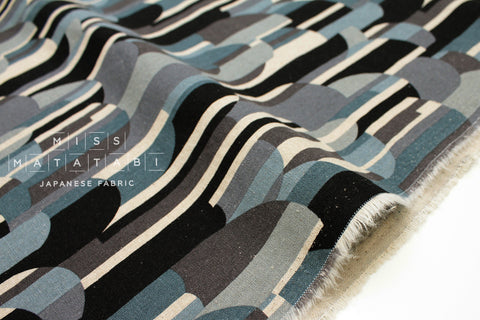 Mountains - grey, blue, black - fat quarter