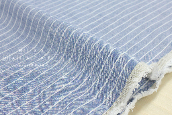 Yarn dyed stripes - chambray blue, white