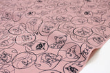 Cat Portraits - cotton lawn - dusty pink